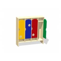 Шкаф для раздевалки четырехсекционный (фанера) МД-07.01-Ф