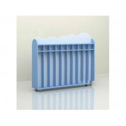 Шкаф для полотенец напольный передвижной 10 секций (фанера) МД-07.05-Ф