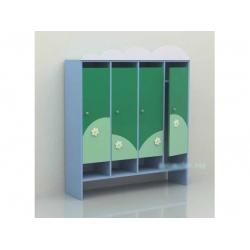 Шкаф для раздевалки четырехсекционный «Облако» (фанера) МД-07.03-Ф