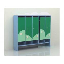 Шкаф для раздевалки пятисекционный «Облако» (фанера)  МД-07.02-Ф