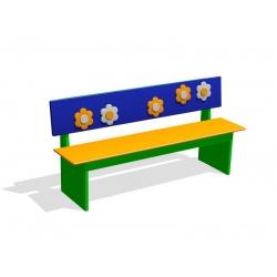 Скамейка для помещений «Ромашки» МД-03.08