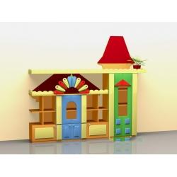 Стенка для игрушек «Городок» (фанера) МД-08.01-Ф