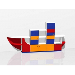 стенка для игрушек «Корабль» МД-08.07-Ф