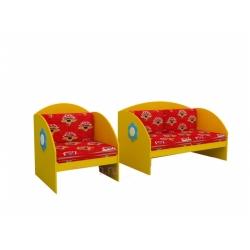 Набор мебели «Диван и кресло» МИ-03.00-Ф