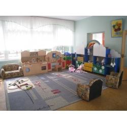 Стенка для игрушек «Дождик» (ламинат) МД-08.02-Л
