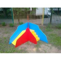 Игровая горка уличная «Ладья со ступенями» (0,5 м) ИСУ-06.01