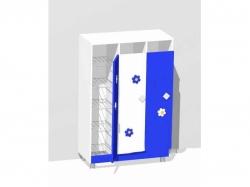 Горшочница 18-мест с дверями (ламинат) МД-07.11-Л
