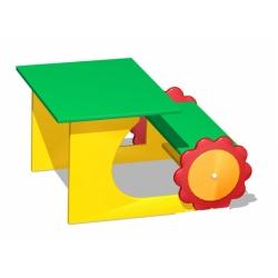 Парта двухместная «Трактор» (фанера) МД-05.04-Ф