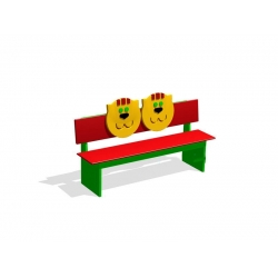 Скамейка для помещений «Коты» МД-03.04