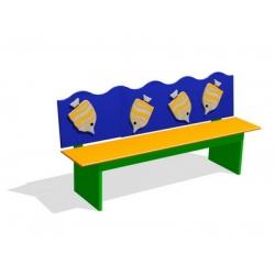 Скамейка для помещений «Рыбки» МД-03.07